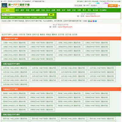 仿《第一PPT》源码 PPT模板幻灯片素材下载站网站模板 自动采集+同步插件